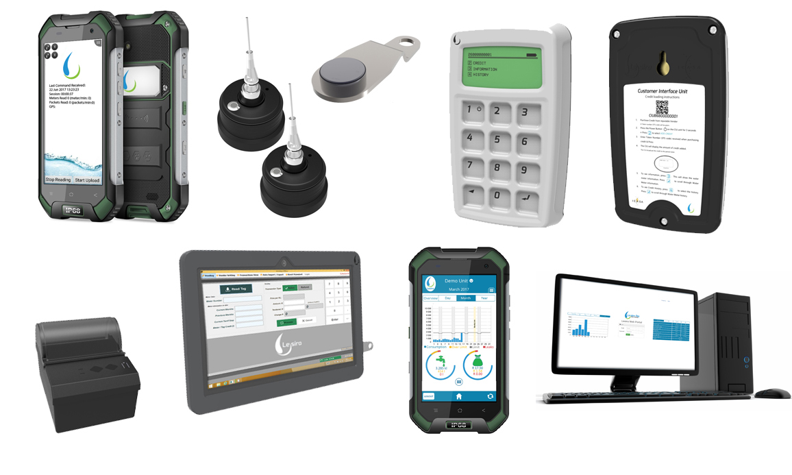 Vending Products & Software, Meter Management Software, Web Management Portal, and Drive-by Kits to support all of Brainswork Metering Products.
